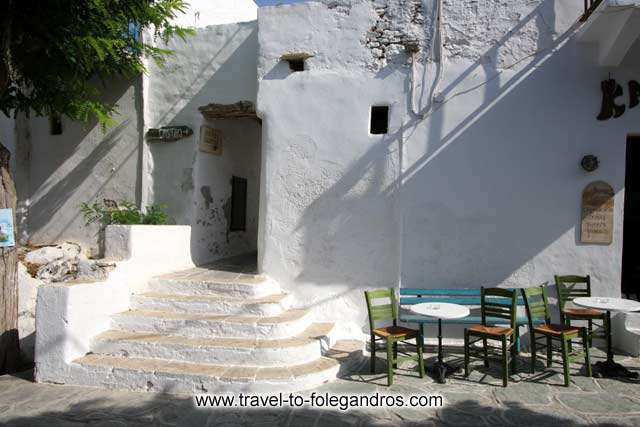 Paraporti is the first entrance into the castle of Folegandros
